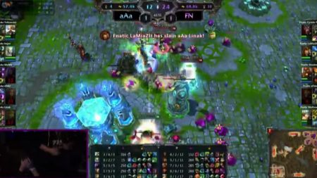 Fnatic winning the S1 World Championship in League of Legends.