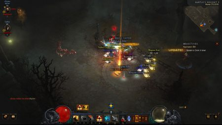 Legendary drop in Diablo 3.
